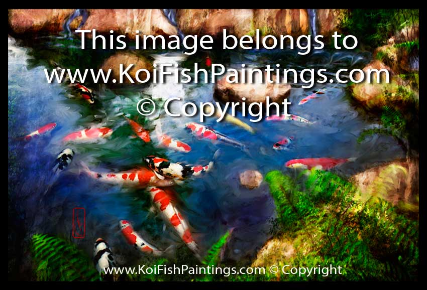 Koi Fish Paintings Canvas Prints  Feng Shui Paintings for Home